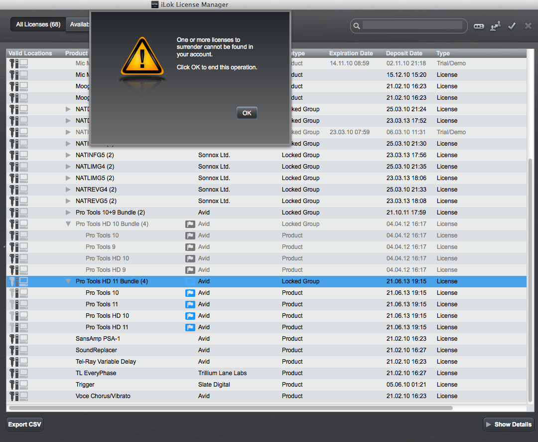 ilok License Manager & HD11 Upgrade confusion [Archive